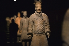 Terracotta soldiers exhibition in Barcelona, Spain